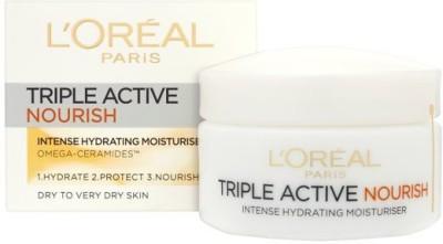 L,Oreal Paris Triple Active Nourish Intense hydrating 24h moisturizer cream