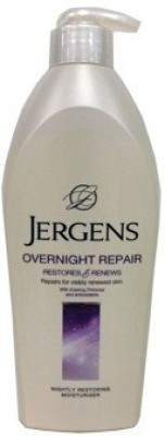 Jergens Overnight Repair Restores & Renews Nightly Moisturizer Body Lotion