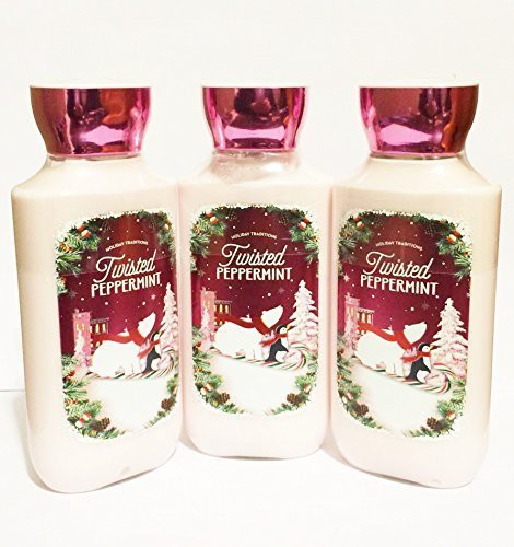 Bath & Body Works Twisted Peppermint Holiday Tradition Lotion (pack Of 3)(226.72 g)