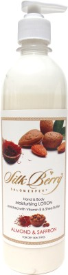 Silk Berry Almond And Saffron Hand and Body Lotion