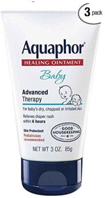 Aquaphor Baby Healing Ointment, Diaper Rash and Dry Skin Protectant, 3 Ounce (Pack of 3)