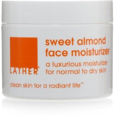 LATHER Sweet Almond Face Moisturizer, - Jar
