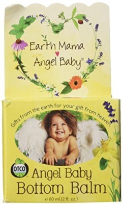 Earth Mama Angel Baby Bottom Balm Zinc & Lanolin Free Calendula Herbal Diaper Cream