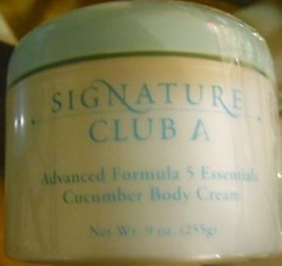 Signature Club A Advanced Formula 5 Essentials Cucumber Body Cream HUGE ~