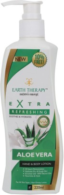 EARTH THERAPY Extra Refreshing Aloevera Hand And Body Lotion 220ml