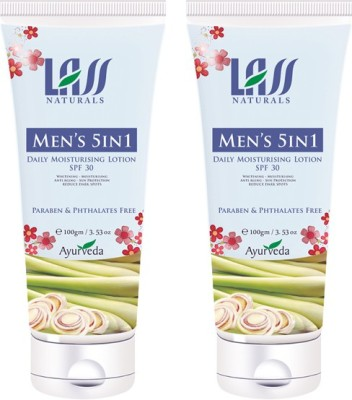 Lass Naturals Pack Of 2 Men,S 5 In 1 Cream