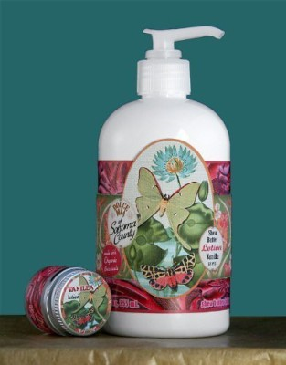 Dolce Mia Butterfly Vanilla Shea Butter Natural Lotion With Organic Botanicals Pump