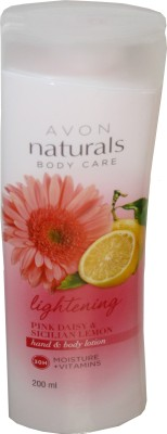 Avon Naturals Lightening Pink Daisy And Sicilian Lemon Hand And Body Lotion
