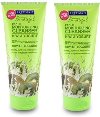Freeman Beautiful Facial Moisturizing Cleanser kiwi and Yogurt ( Pack of 2 )