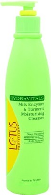 Lotus Herbals Professional Hydravitals Milk Enzymes & Turmeric Moisturising Cleanser