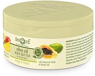 Potomac Valley Sponges, Spa & Body Olive Oil Body Butter with Mango & Papaya 200ml