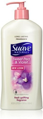 Suave naturals sweet pea & violet body lotion 18 oz(540 ml)