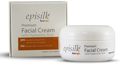 Hyalogic episilk premium facial cream - with pure hyaluronic acid - all natural ha - 2 ounces