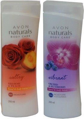 Avon Naturals Body Care Suttury & Vibrant Hand & Body Lotion (Set of 2 )