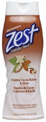 Zest Body Wash, Creamy Cocoa Butter & Shea