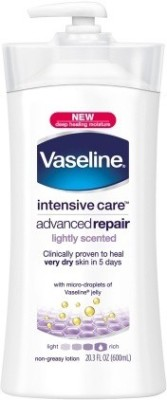Vaseline Intensive Care Advanced Repair Fragrance Free Body Lotion 600 ml