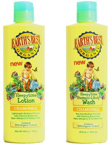 EarthS Best Jason, SleepyTime Lotion Chamomile (Lotion+Shampoo & BodyWash)(480 ml)