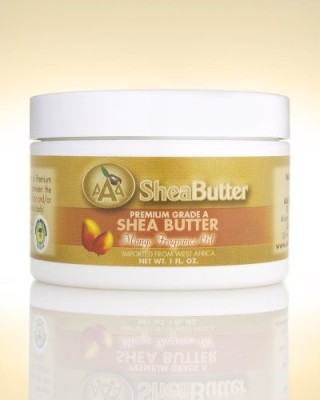 AAA Shea Butter 100% unrefined certified grade a shea butter with a hint of mango fragrance oil 1 oz. by