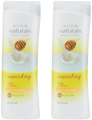 Avon Milk & Honey Hand & Body Lotion (Set Of 2 - 200 Ml Each)