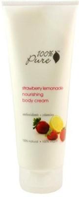 100% Pure Strawberry Lemonade Nourishing Body Cream