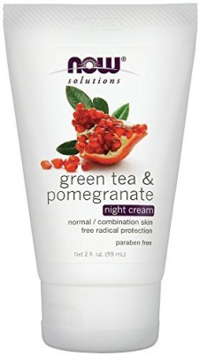 Now Foods Green Tea Pomegranate Night Cream