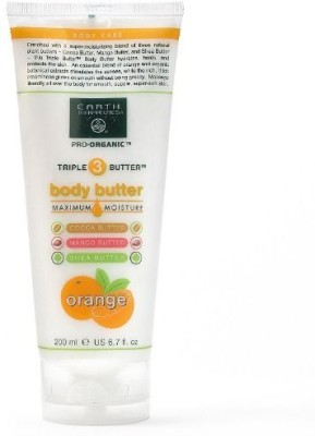 Earth Therapeutics Triple Butter Body Butter: Cocoa, Mango and Shea, fl.