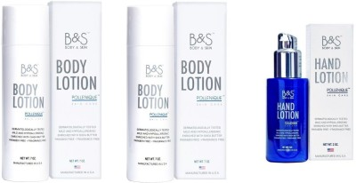 B&S Combo of 2 Body Lotion & 1 Hand Lotion