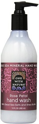 One With Nature Dead Sea Mineral Lotion with Dead Sea Salts and Shea Butter Rose Petal