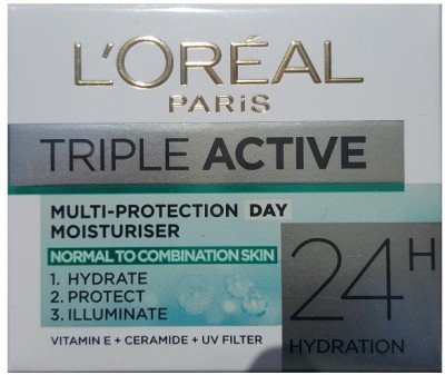 L,Oreal Paris triple active multi protection day moisturiser