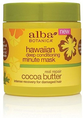 Alba Botanica Botanica Hawaiian Cocoa Butter Deep Conditioning Minute Mask, 5.5 Ounce