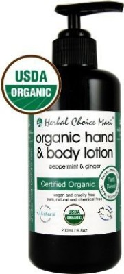 Herbal Choice Mari Beauty Herbal Choice Mari Organic Hand & Body Lotion Peppermint & Ginger / 6.8 Pump