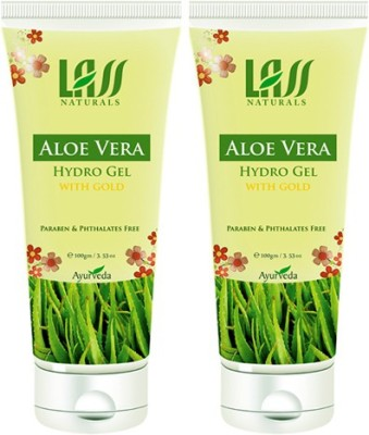 Lass Naturals Pack Of 2 Aloe Vera With Gold Leaf Gel