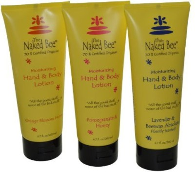 The Naked Bee Naked Bee Hand & Body Lotion 3 Pack Orange Blossom Honey Pomegranate & Honey and Lavender & Beeswax Absolute
