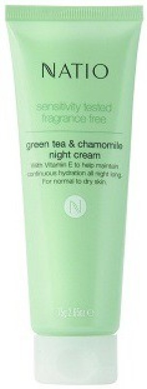 Natio Sensitivity Tested Fragrance Free Green Tea And Chamomile Night Cream,(75 g)