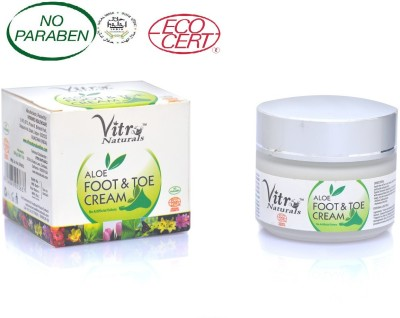 Vitro Naturals Certified Organic Aloe Foot & Toe Cream