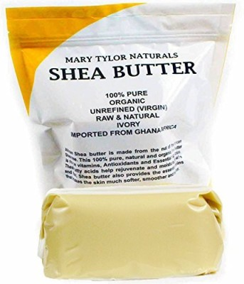 Mary Tylor Naturals Shea Butter 1 lb (16 Oz) Raw Unrefined Ivory Grade A. Premium Quality Amazing Skin Nourishment, Great For DIY Body Butters Lip Balms Lotions Acne Eczema & Stretch Marks By Mary Tylor Naturals