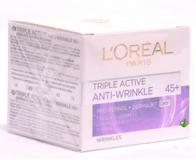 L,Oreal Paris Triple Active 45+ Anti-Wrinkle Day Cream