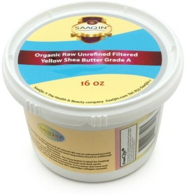 SAAQIN Authentic Organic African Shea Butter FILTERED & CREAMY