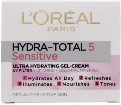 LOreal Paris Hydra Total 5 Ultra Hydrating Gel Cream (For Sensitive Skin)(49 ml)
