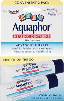 Aquaphor Baby Healing Ointment, Diaper Rash and Dry Skin Protectant, Dual Pack