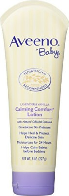 Aveeno Calming Comfort Lotion, Lavender & Vanilla (Pack of 3)