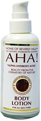 Nonie of Beverly Hills AHA! Body Lotion All Natural.