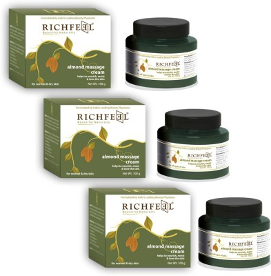 Richfeel Almond Massage Cream 100g (Pack Of 3)