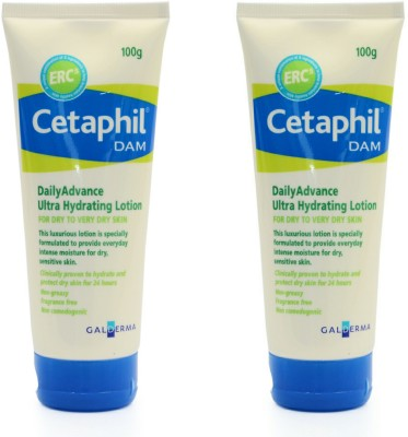 Cetaphil DAM Daily Advance Ultra Hydrating Lotion - Pack of 2(100 g)