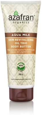 Azafran Organics Aqua Milk Skin Revitalising Oil Trio Body Butter