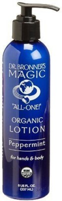 Dr. Bronner's & All-One Organic Lotion for Hands & Body, Peppermint, - Pump Bottles (Pack of 2)