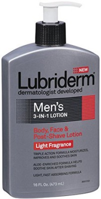 Lubriderm Men's 3-in-1 Lotion with Light Fragrance