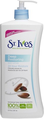 St. Ives 24hr Deep Restoring Body Lotion Almond Oil (Made in USA)