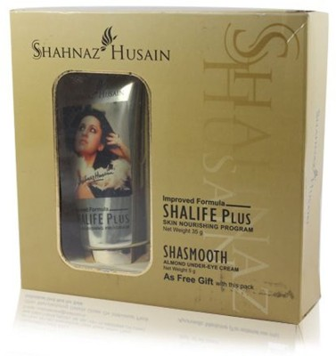 Shahnaz Husain Shalife Plus Skin Nourishing Program, 60g Free Shasmooth Almond Eye Cream 10 G