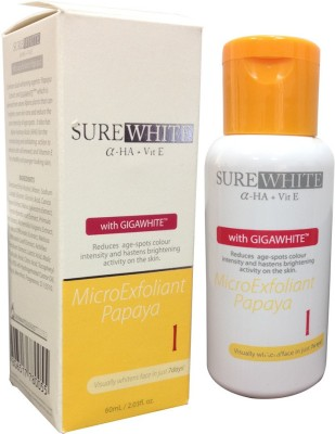 Sure White α-HA, Vit E with Gigawhite Micro Exfoliant Papaya